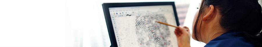 someone analyzing a fingerprint