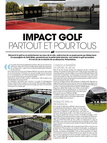 Impact Golf, article paru dans le Journal du Golf #110 septembre 2015