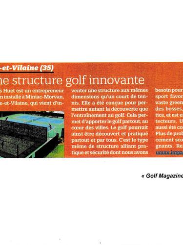 Impact Golf, Article paru dans Golf Magasine Novembre 2015