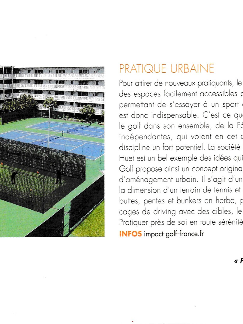 Impact Golf, article paru dans Fairways HS n°10 Mai 2015
