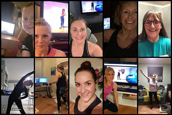 Online at home workout