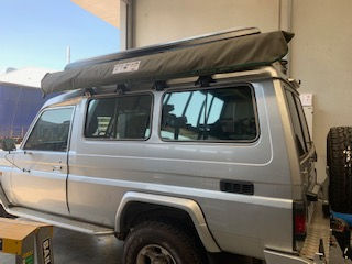 Toyota Troopcarrier with Bundutop tent f