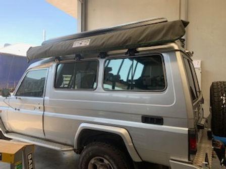 Toyota Troopcarrier with Bundutop tent f