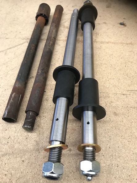 Tough Touring A Arm Axles next to stock