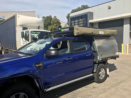 Ford Ranger with Bundutop tent and Ostri