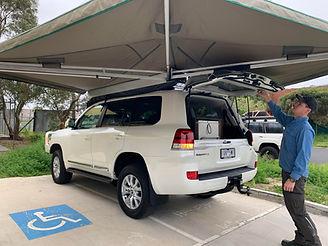 Ostrich on 200 Series Toyota Landcruiser