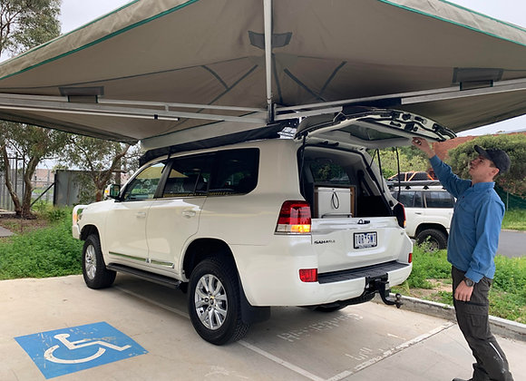 Ostrich Wing Awning - 3 pole Version - 2.45m Long