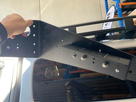 Mid mount bracket assembed for ARB rack.