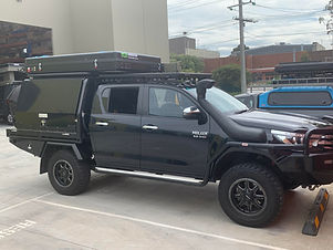 Hilux with Bundutop tent fitted by Tough