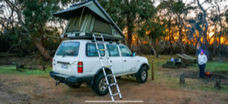 80 Series with Bush Co roof top tent har