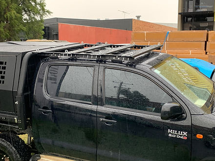 Toyota Hilux Over cab rack tent mounting