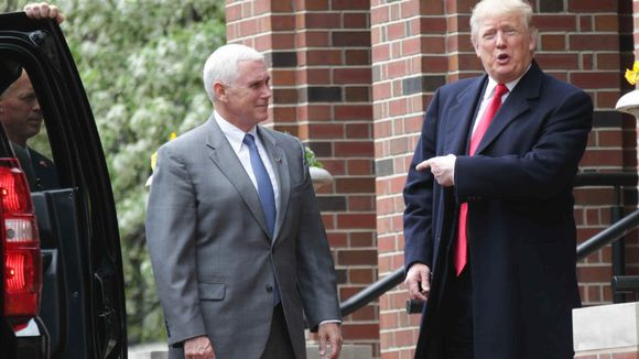 Donald Trump with Mike Pence. photo credit Indystar