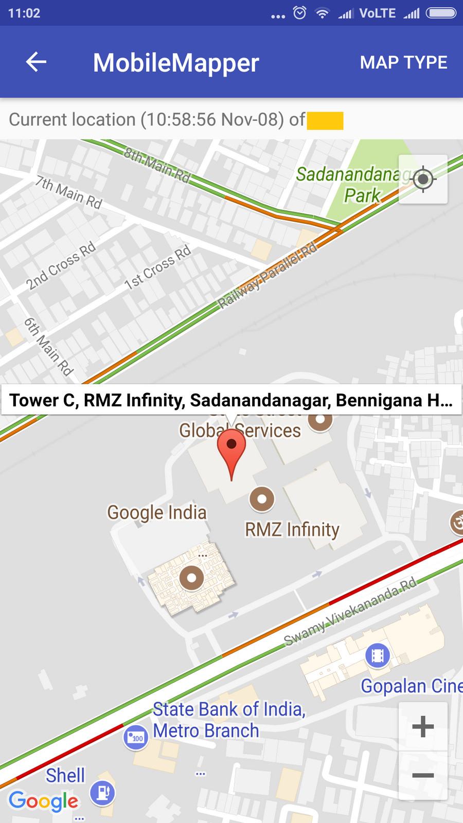 Mobile Mapper Location Map