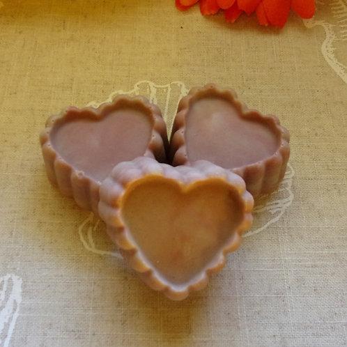 Rose Scalloped Heart Facial Soap