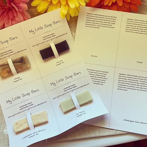 Wholesale Soap Sample Sheets