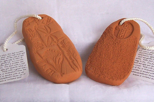 Handmade Red Clay Foot Scrubby