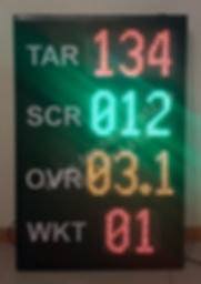 LED Scoreboards for Cricket. LED Cricket scoreboards