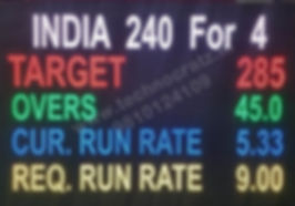 LED Cricket scoreboard manufactured in New Delhi, India