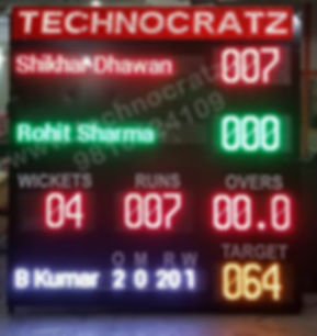 LED Cricke scoreboard made in India. New Delhi