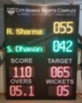 LED Cricket Scoreboard manufactured in India. Mumbai, Chennai, Hyderabad