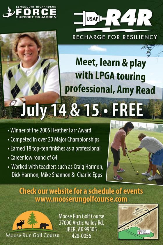 LPGA Tour Pro, Amy Read coming to Moose Run GC 14-15 July
