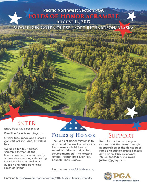PGA to Host Folds of Honor Tournament at Moose Run GC