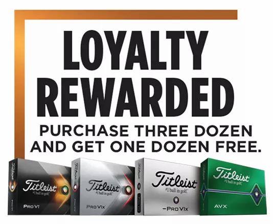 Titleist Buy 3 Get 1 Free Sale!