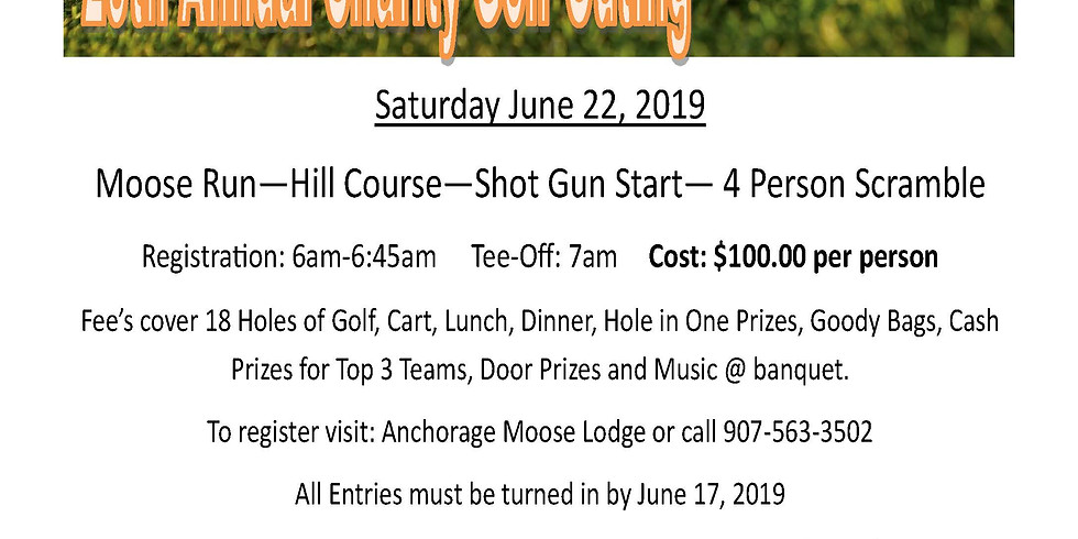 2019 Anchorage Moose Lodge Charity Golf Outing