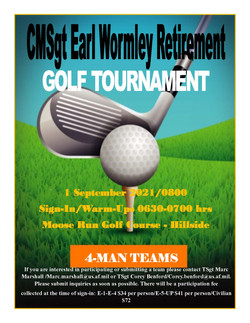 Chief Wormley's Retirement Tourney