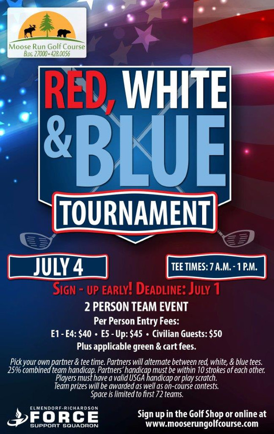 Online Entry Now Available for Red, White & Blue Tournament