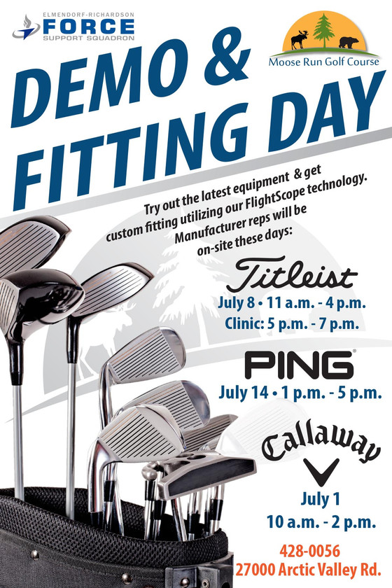Demo & Fitting Days Announced