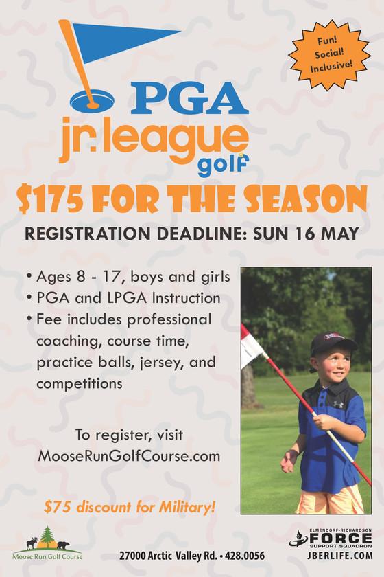 PGA Jr. League Registration Now Open!