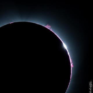 Solar Eclipse Flares