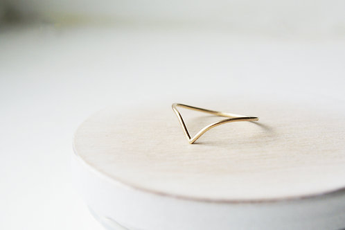The Wishbone Solid Gold Ring