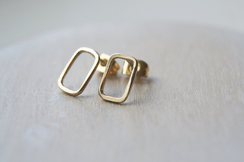 The Portrait Solid Gold Stud Earrings