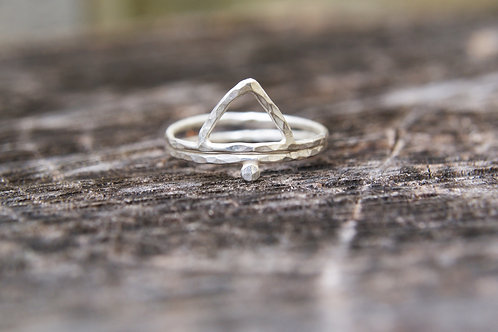 Dot & Triangle Stacking Ring Set of Two
