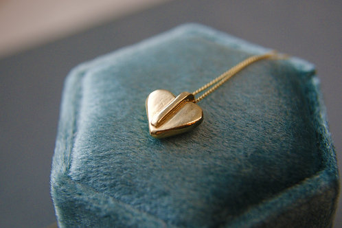 The Puffy Heart - 9ct Gold Micro-Pendant Charm Necklace