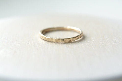 The Strike Stacking Ring Band Solid Gold