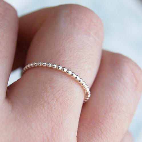 Silver Dot Stacking Ring