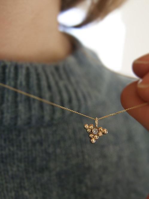 The Vega - 9ct Gold & 0.3ct Diamond Micro-charm Pendant