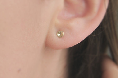 Tiny Solid 9ct Recycled Gold Studs
