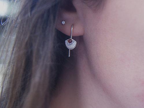 Silver Goldstone Threader Earrings