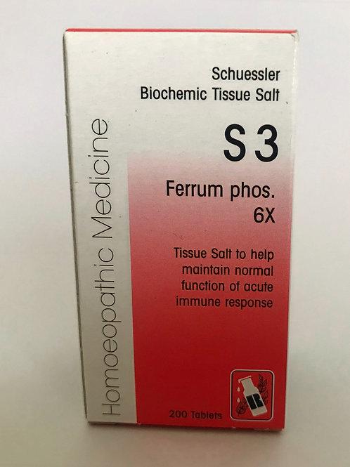 S3 Ferrum phos. 6X