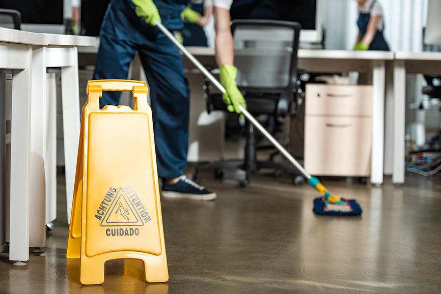 cropped-of-cleaner-washing-floor-with-mo