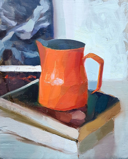 life painting orange