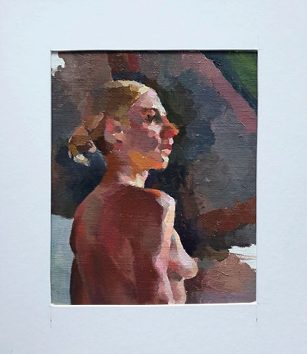Female life painting