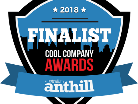 We've Made Into The Finalist of The Australian Anthill Cool Company Awards