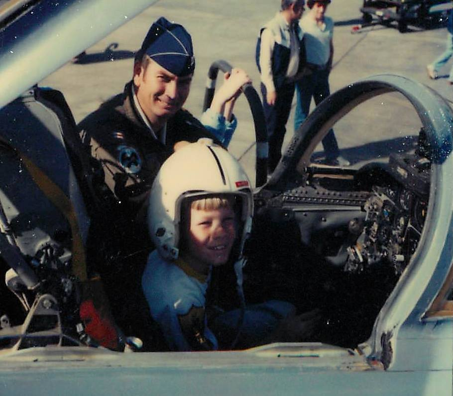 Justin & Dad - Holloman AFB Open House 1982