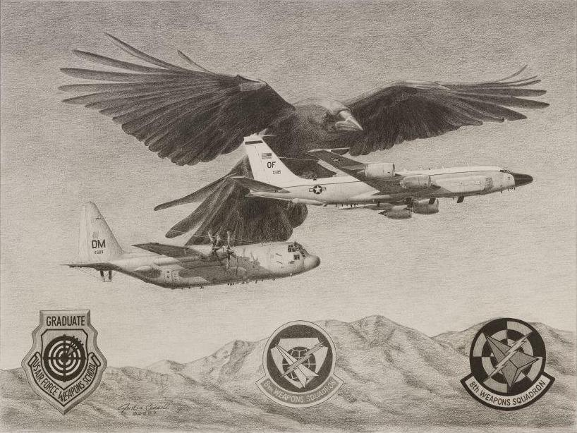 8th Weapons Squadron Old Crows Litho
