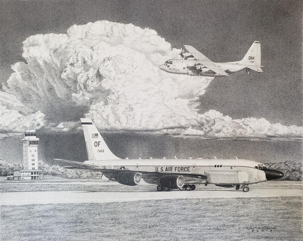 RC-135 & EC-130H at Offutt AFB